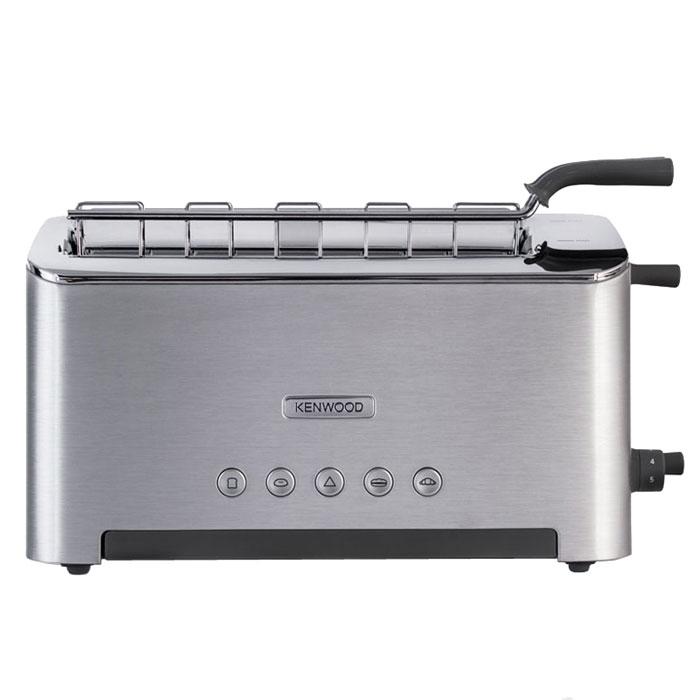 Kenwood TTM 610 тостерTTM 610Тостер-гриль Kenwood TTM 610 предлагает вам максимальную универсальность: поджаривание, разморозка и разогрев разнообразных видов пищи. Ширина слота может быть отрегулирована от 10 мм до 58 мм, а несколько режимов нагрева помогут приготовить идеально хрустящие круассаны, тосты и аппетитные горячие сэндвичи. С четырьмя выделенными кнопками это проще чем когда либо. Режим bagel включает только передний нагревательный элемент на максимальную температуру, таким образом срезанная сторона булки будет поджарена. Тостер-гриль TTM 610 также оснащен функцией Peek and View от Kenwood, позволяющей вам в любой момент проверить насколько поджарен ваш хлеб или сэндвич, без необходимости останавливать программу. Просто используйте рычаг сбоку и вы больше никогда не получите подгоревшие тосты.