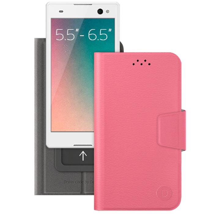 Deppa Wallet Slide L универсальный чехол-подставка для смартфонов 5.5-6.5, Pink84054Универсальный чехол Deppa Wallet Slide L предназначен для защиты корпуса смартфона диагональю 5.5-6.5 от механических повреждений и царапин в процессе эксплуатации. Имеется свободный доступ ко всем разъемам и кнопкам устройства. Подходит для смартфонов с любым расположением камеры.