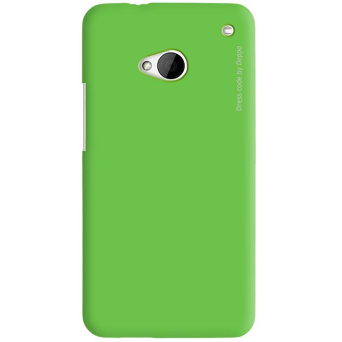 Deppa Air Case чехол для HTC One, Green83014Чехол Deppa Air Case для HTC One предназначен для защиты корпуса смартфона от механических повреждений и царапин в процессе эксплуатации. Имеется свободный доступ ко всем разъемам и кнопкам устройства. Чехол изготовлен из поликарбоната Teijin производства Японии с покрытием Soft touch.