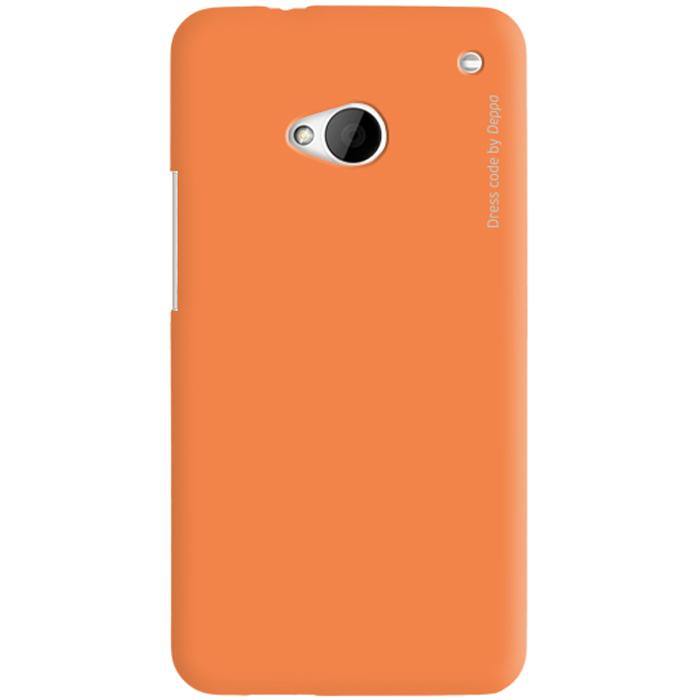 Deppa Air Case чехол для HTC One, Orange83018Чехол Deppa Air Case для HTC One предназначен для защиты корпуса смартфона от механических повреждений и царапин в процессе эксплуатации. Имеется свободный доступ ко всем разъемам и кнопкам устройства. Чехол изготовлен из поликарбоната Teijin производства Японии с покрытием Soft touch.