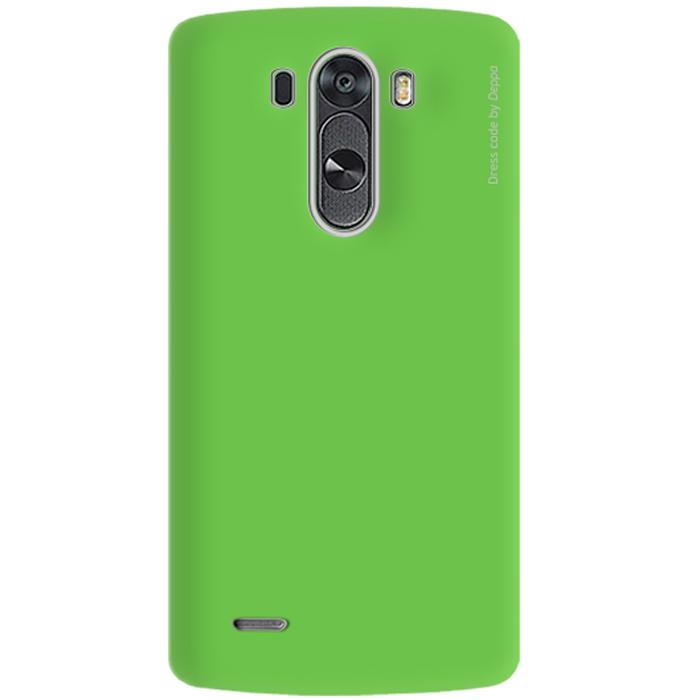 Deppa Air Case чехол для LG G3, Green83070Чехол Deppa Air Case для LG G3 предназначен для защиты корпуса смартфона от механических повреждений и царапин в процессе эксплуатации. Имеется свободный доступ ко всем разъемам и кнопкам устройства. Чехол изготовлен из поликарбоната Teijin производства Японии с покрытием Soft touch. В комплект также входит защитная пленка из трехслойного японского материала PET.