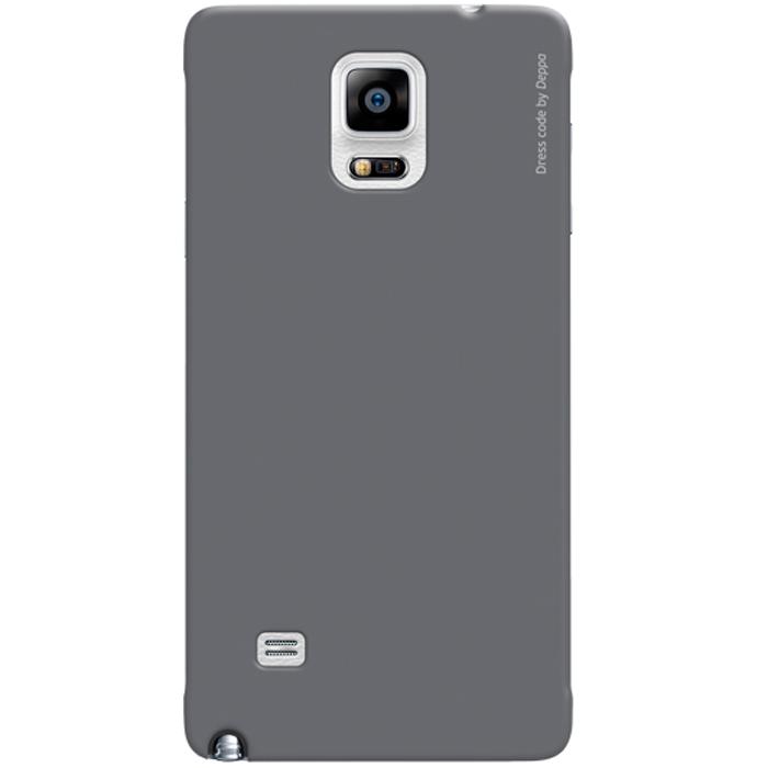 Deppa Air Case чехол для Samsung Galaxy Note 4, Grey83132Чехол Deppa Air Case для Samsung Galaxy Note 4 предназначен для защиты корпуса смартфона от механических повреждений и царапин в процессе эксплуатации. Имеется свободный доступ ко всем разъемам и кнопкам устройства. Чехол изготовлен из поликарбоната Teijin производства Японии с покрытием Soft touch. В комплект также входит защитная пленка из трехслойного японского материала PET.
