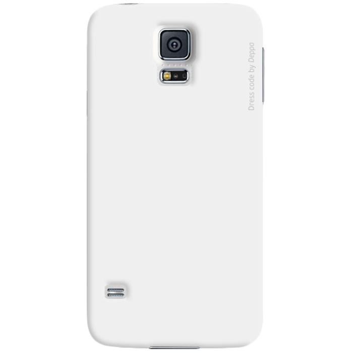 Deppa Air Case чехол для Samsung Galaxy S5, White83055Чехол Deppa Air Case для Samsung Galaxy S5 предназначен для защиты корпуса смартфона от механических повреждений и царапин в процессе эксплуатации. Имеется свободный доступ ко всем разъемам и кнопкам устройства. Чехол изготовлен из поликарбоната Teijin производства Японии с покрытием Soft touch. В комплект также входит защитная пленка из трехслойного японского материала PET.