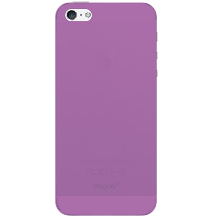 Deppa Sky Case чехол для Apple iPhone 5/5s, Purple86008Чехол Deppa Sky Case для iPhone 5/5s предназначен для защиты корпуса смартфона от механических повреждений и царапин в процессе эксплуатации. Имеется свободный доступ ко всем разъемам и кнопкам устройства. Чехол изготовлен из полипропилена и имеет толщину 0,3 мм.