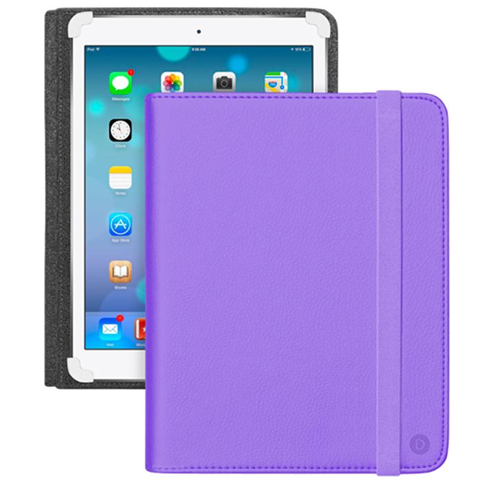 Deppa Universal Cover чехол-подставка для планшетов 10-11, Purple82535Универсальный чехол Deppa Universal Cover предназначен для защиты корпуса планшета диагональю 10-11 от механических повреждений и царапин в процессе эксплуатации. Имеется свободный доступ ко всем разъемам и кнопкам устройства.
