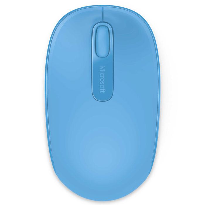 Microsoft Wireless Mobile Mouse 1850, Cyan Blue мышь (U7Z-00058)