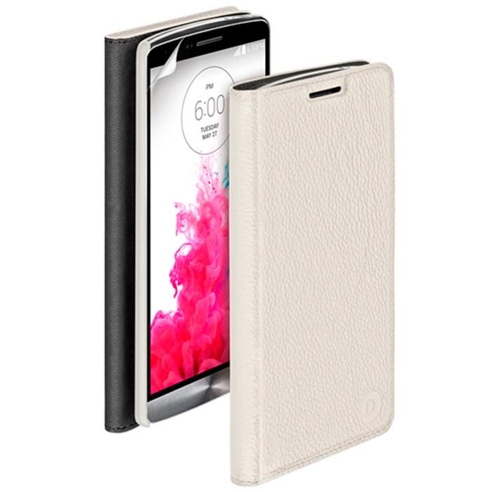 Deppa Wallet Cover чехол для LG G3, White84060Чехол Deppa Wallet Cover для LG G3 предназначен для защиты корпуса смартфона от механических повреждений и царапин в процессе эксплуатации. Имеется свободный доступ ко всем разъемам и кнопкам устройства. В комплект также входит защитная пленка из трехслойного японского материала PET.