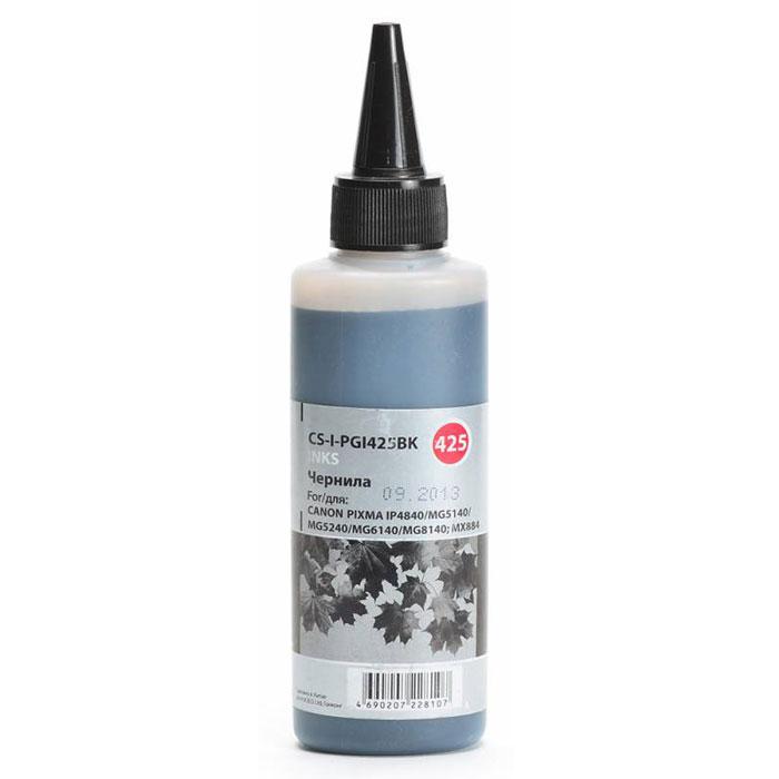 Cactus CS-I-PGI425BK, Black чернила (100 мл) для Canon PIXMA iP4840/MG5140/5240/6140/8140CS-I-PGI425BKCactus CS-I-PGI425BK - чернила для перезаправляемых картриджей. Произведены при строгом соответствии стандартам ISO 9001 и ISO 14001. Объем: 100 мл