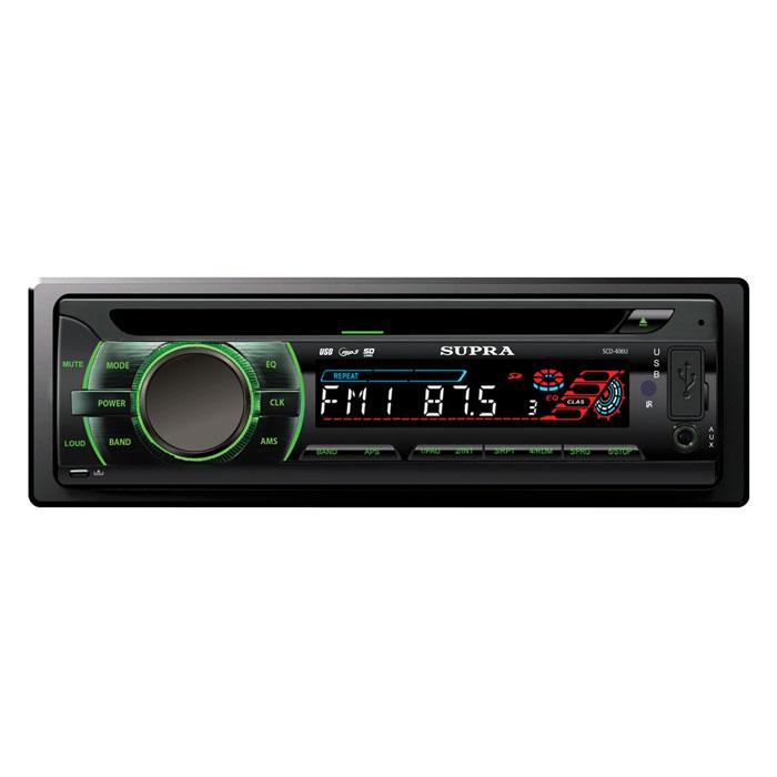 Supra SCD-406U, Black автомагнитола CD/MP3 ( SCD-406U )