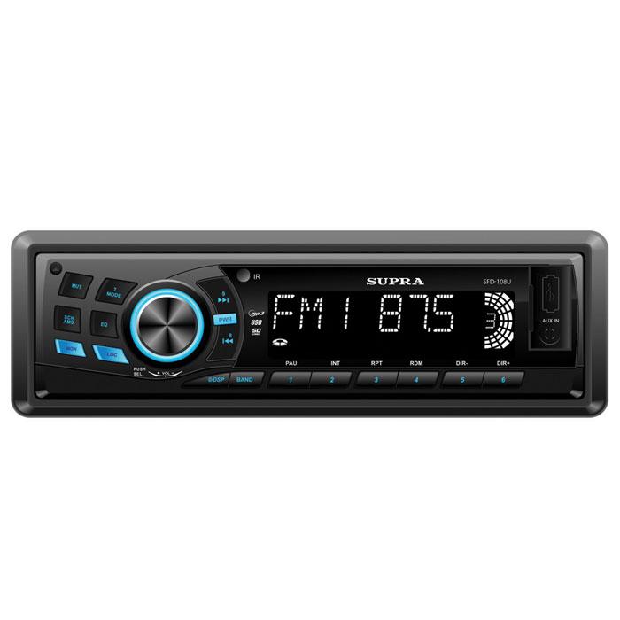 Supra SFD-108U, Black автомагнитола MP3 ( SFD-108U )