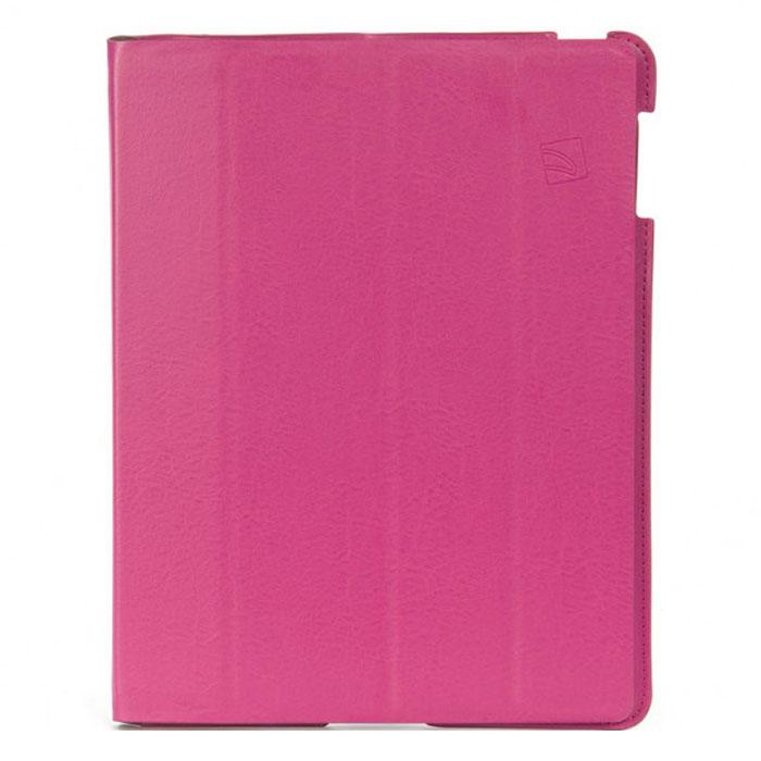 Tucano Cornice чехол для iPad 2/3/4, FuchsiaTC_TPC_IPDCO23-FTucano Cornice - популярный чехол-книжка из экокожи для Apple iPad 2/3/4 с магнитной обложкой. Верхняя крышка трансформируется в подставку (аналог Smart Cover). Мягкая внутренняя поверхность из микрофибры предотвращает появление царапин. Чехол позволит благополучно транспортировать iPad в любом портфеле или дорожной сумке и обеспечит максимальную защиту гаджету. Подставка при помощи технологии Stand-Up System позволяет удобно располагать чехол на столе и имеет 2 позиции - для чтения и работы. Чехол открывается как книга, и обеспечивает свободный доступ к функциям iPad (камере, входу для наушников).
