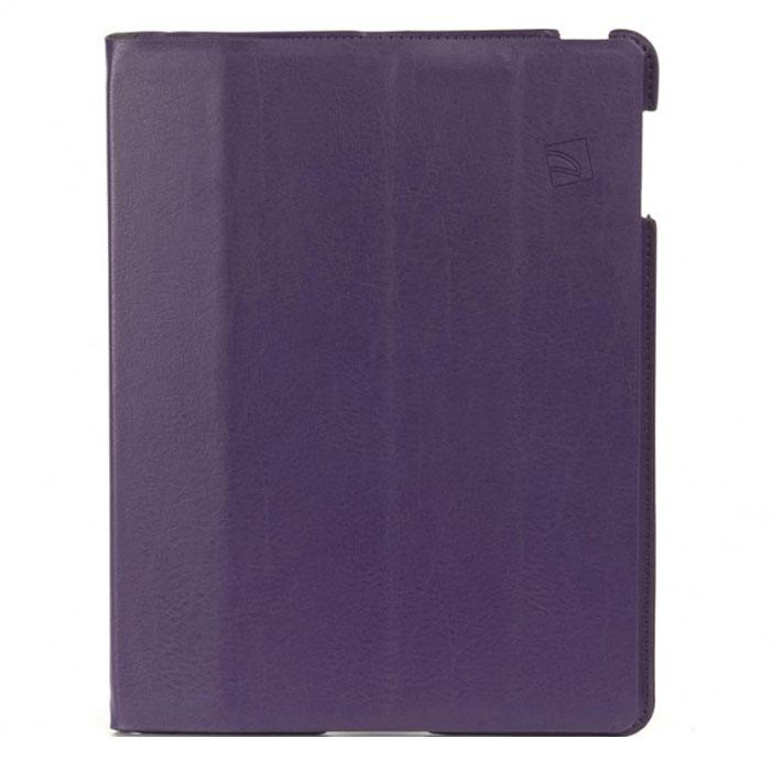 Tucano Cornice чехол для iPad 2/3/4, PurpleTC_TPC_IPDCO23-PPTucano Cornice - популярный чехол-книжка из экокожи для Apple iPad 2/3/4 с магнитной обложкой. Верхняя крышка трансформируется в подставку (аналог Smart Cover). Мягкая внутренняя поверхность из микрофибры предотвращает появление царапин. Чехол позволит благополучно транспортировать iPad в любом портфеле или дорожной сумке и обеспечит максимальную защиту гаджету. Подставка при помощи технологии Stand-Up System позволяет удобно располагать чехол на столе и имеет 2 позиции - для чтения и работы. Чехол открывается как книга, и обеспечивает свободный доступ к функциям iPad (камере, входу для наушников).