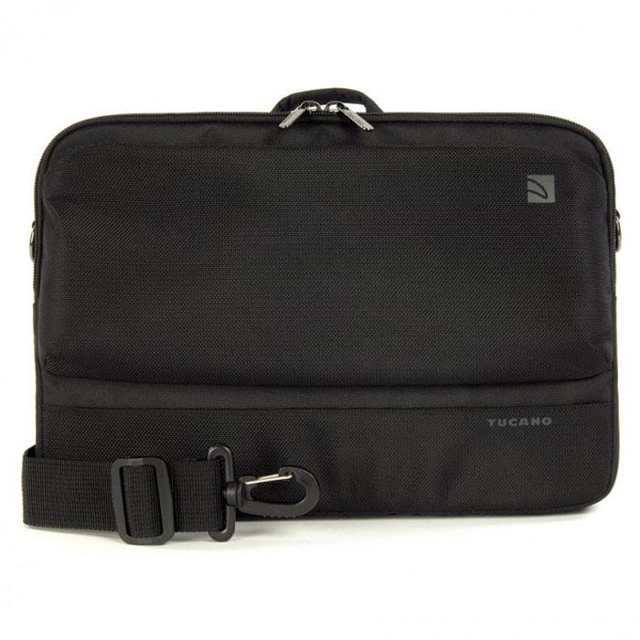 Tucano Dritta сумка для MacBook Air 11/ноутбука 11.6, BlackTC_NB_BDR11Tucano Dritta - стильная и надежная сумка для MacBook Air 11 и ноутбуков с диагональю 11,6. Внутри имеется мягкая подкладка и удобный карман с органайзером. Удобство ношения обеспечивают эргономичная ручка и регулируемый ремень.