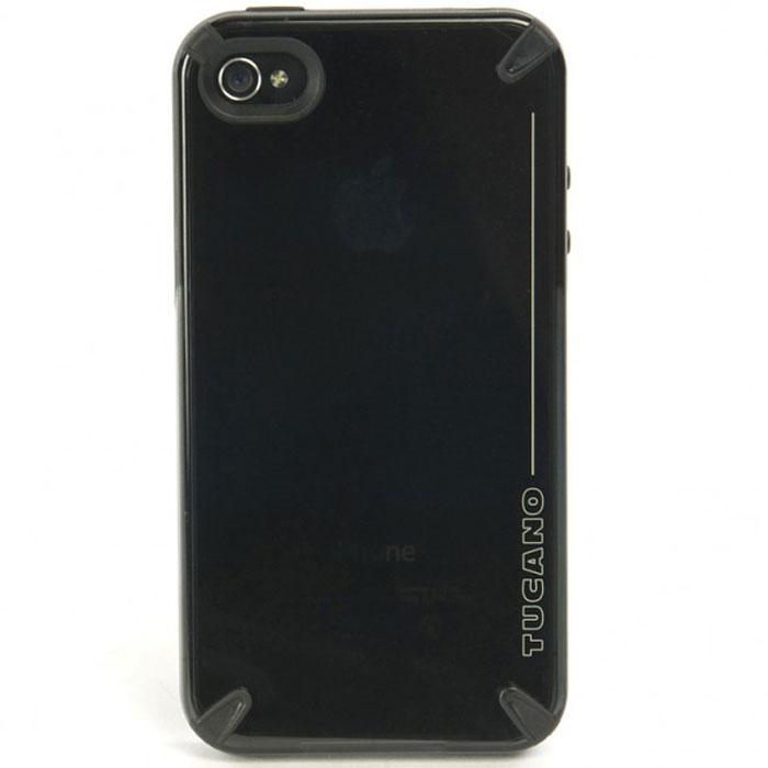 Tucano Tecno чехол для iPhone 4/4S, BlackTC_IPH-IPHTEЖесткий защитный чехол-накладка Tucano Tecno чехол для iPhone 4/4S идеально облегает и защищает iPhone от царапин, пыли и легких ударов, а также обеспечивает полный доступ ко всем функциям телефона. Tucano Tecno изготовлен единым блоком методом литья под давлением с двойным впрыском (поликарбонат и термопластичный полиуретан) для достижения необыкновенной прочности в центральной части и мягкости по бокам. Мягкий защитный материал по бокам обеспечивает удобный и надежный захват. В комплект также входит защитная пленка для экрана смартфона.