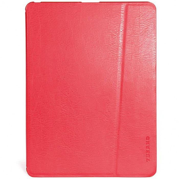 Tucano Palmo чехол для iPad Air, RedTC_TPC_IPD5PA-RСовременный чехол-книжка Tucano Palmo для iPad Air обладает мягкой внутренней поверхностью, которая защитит устройство от пыли и царапин и функцией автоматического погружения планшета в режим сна. Минималистичный дизайн с трансформирующейся в подставку верхней крышкой и жесткой нижней делает чехол привлекательным и удобным в использовании.