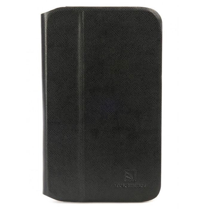 Tucano Leggero чехол для Samsung Galaxy Tab 3 7.0, BlackTC_TPC_TAB-LS37Tucano Leggero - чехол-книжка из мягкой экокожи, разработанный специально для Samsung Galaxy Tab 3 7.0. Он легко трансформируется в удобную подставку при помощи технологии Stand-Up System и имеет 3 позиции - для чтения или работы. Передняя крышка с магнитным замком Maglocker позволяет зафиксировать крышку на задней панели. Мягкая подкладка из микрофибры служит для предотвращения царапин. Обеспечивает свободный доступ ко всем функциям и разъёмам устройства.
