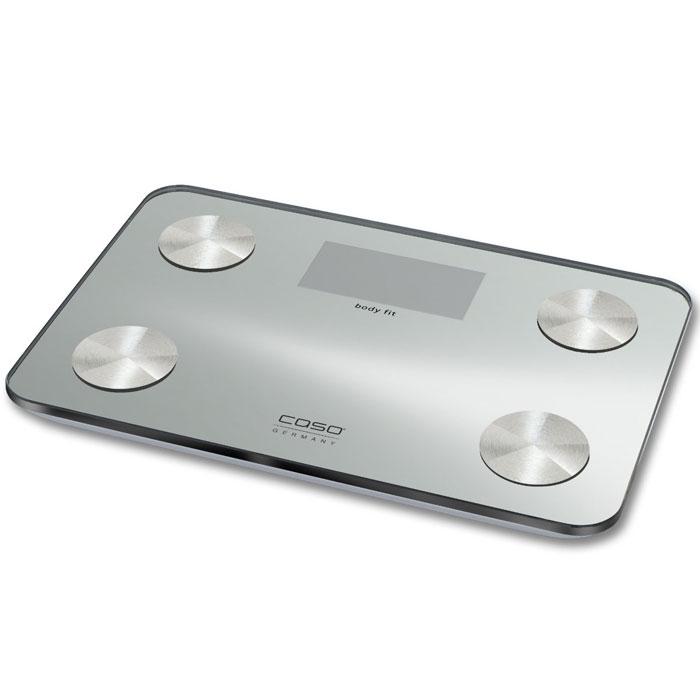 CASO Body Fit весы напольныеBMI-waageСверхточные диагностические весы CASO Body Fit со стеклянной платформой идеально подойдут для вашей ванны. Весы CASO Body Fit имеют память на 10-х пользователей, поэтому они идеально подойдут всей вашей семье. Позаботьтесь о вашем здоровье, немецкие весы станут вашим незаменимым помощником по уходу за собой.