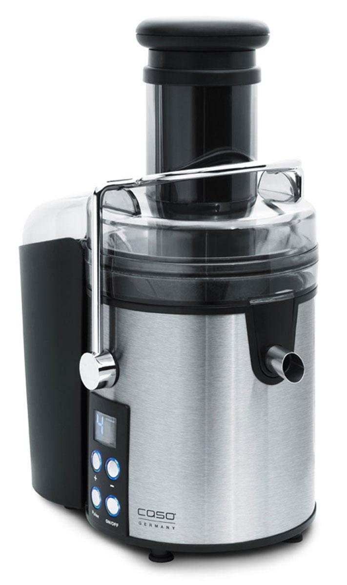 CASO PJ800 соковыжималкаPJ 800Высококачественная соковыжималка CASO PJ 800 идеально подойдет вашей кухне благодаря современному и очень красивому дизайну. Данная модель станет надежным источником витаминов и энзимов, позволяя выдавливать сок практически из любых продуктов, независимо от их твердости. Мощность в 800 Вт дает возможность быстро получать ароматный и насыщенный сок, даже при обработке твердых фруктов и овощей Благодаря широкой загрузочной горловине 75 мм есть возможность загрузить целые фрукты и овощи.