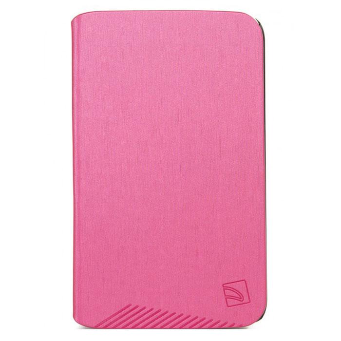 Tucano Macro чехол для Samsung Galaxy Tab 3 7.0, FuchsiaTC_TPC_TAB-MS37-FTucano Macro - чехол из прочного материала. Имеет жесткий корпус, обеспечивающий максимальную защиту. Чехол легко трансформируется в удобную подставку при помощи технологии Stand-Up System и имеет 3 позиции - для чтения или работы. Мягкая подкладка из микрофибры служит для предотвращения царапин. Обеспечивает свободный доступ ко всем функциям и разъёмам устройства.