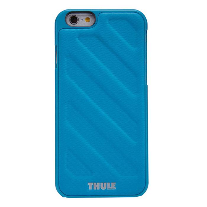 Thule Gauntlet чехол для iPhone 6 Plus, BlueTH_MB_TGIE-2125BТонкий чехол Thule Gauntlet для iPhone 6 Plus позволяет легко положить и достать устройство из кармана. Спрессованная нескользящая поверхность и продуманная форма позволяют надежно удерживать устройство во время фотографирования или игр. Выступающие края защищают экран, кнопку включения/выключения и динамики от ударов и царапин. Благодаря нескользящей задней поверхности устройство останется лежать там, где вы его положите.