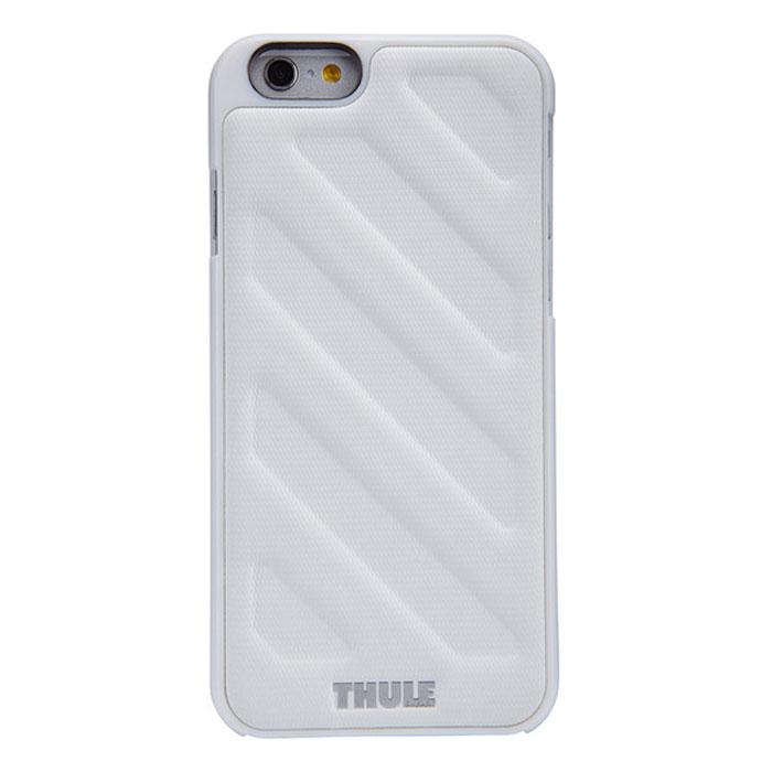 Thule Gauntlet чехол для iPhone 6 Plus, WhiteTH_MB_TGIE-2125WТонкий чехол Thule Gauntlet для iPhone 6 Plus позволяет легко положить и достать устройство из кармана. Спрессованная нескользящая поверхность и продуманная форма позволяют надежно удерживать устройство во время фотографирования или игр. Выступающие края защищают экран, кнопку включения/выключения и динамики от ударов и царапин. Благодаря нескользящей задней поверхности устройство останется лежать там, где вы его положите.