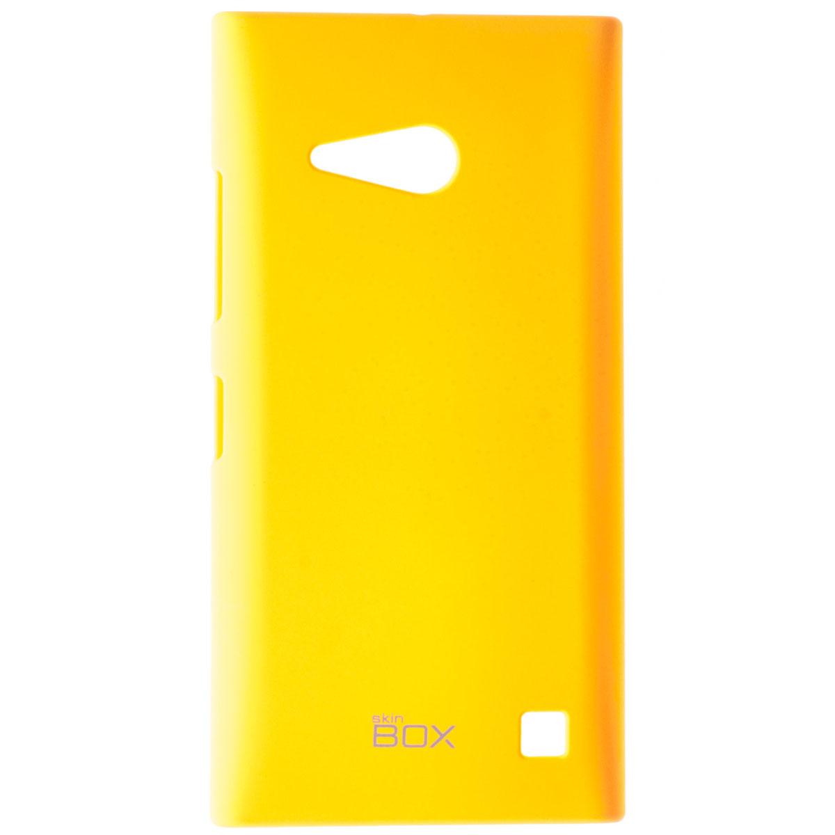 Skinbox Shield 4People чехол для Nokia Lumia 730/735, YellowT-S-NL730-002Чехол Skinbox Shield 4People для Nokia Lumia 730/735 предназначен для защиты корпуса смартфона от механических повреждений и царапин в процессе эксплуатации. Имеется свободный доступ ко всем разъемам и кнопкам устройства. В комплект также входит защитная пленка на экран телефона.