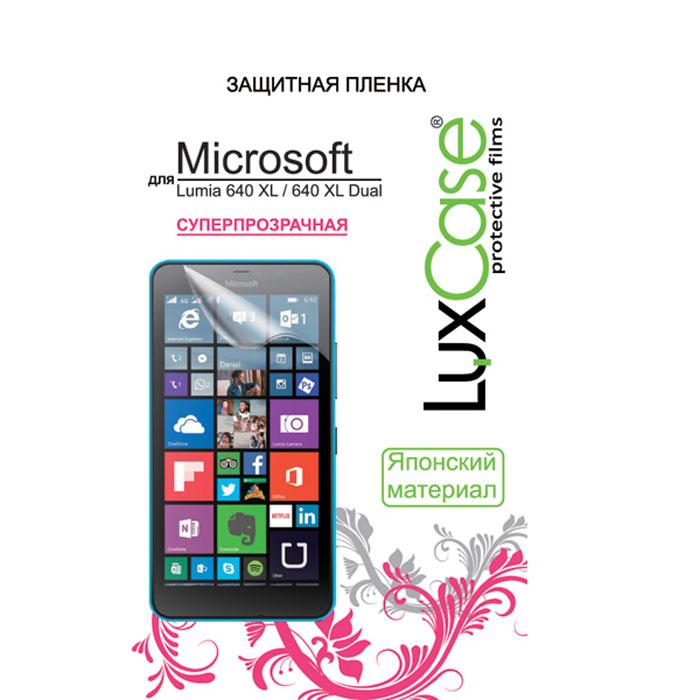 Luxcase защитная пленка для Microsoft Lumia 640 XL/640 XL Dual, cуперпрозрачная81312Суперпрозрачная защитная пленка Luxcase для Microsoft Lumia 640 XL имеет защитный слой, который снимается во время наклеивания. Данная защитная пленка не снижает чувствительности на нажатие. На защитной пленке есть все технологические отверстия под камеру, кнопки и вырезы под особенности экрана. Благодаря использованию высококачественного японского материала пленка легко наклеивается, плотно прилегает, имеет высокую прозрачность и устойчивость к механическим воздействиям. Потребительские свойства и эргономика сенсорного экрана при этом не ухудшаются.