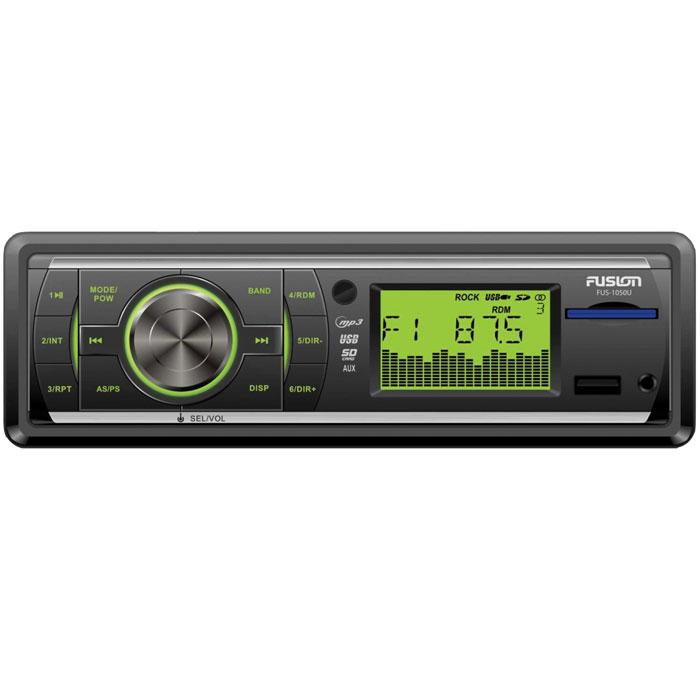 Fusion FUS-1050U, Black автомагнитола MP3FUS-1050UАвтомагнитола Fusion FUS-1050U с типоразмером 1 DIN способна воспроизводить mp3-файлы или выполнять роль радиопроигрывателя. Пиковая мощность устройства составляет 4х40 Вт, радио поддерживает диапазоны СВ, УКВ и FM. Магнитола имеет также встроенный полосный эквалайзер.