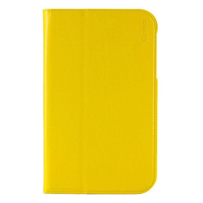 Nexx Bookz чехол для Samsung Galaxy Tab 3 Lite 7, YellowNX-TPC-BZ-207YФункциональный чехол Nexx Bookz для Samsung Galaxy Tab 3 Lite 7 отличается от всех прочих сочетанием функциональности и простоты. Функция sleep/wake позволит переключать планшет в режим сна при закрытии крышки и автоматически включать его при ее открытии. Края чехла из экокожи высочайшего качества, прошитые специальным образом, придают ему долговечность и надежно предохранят планшет от царапин и повреждений.