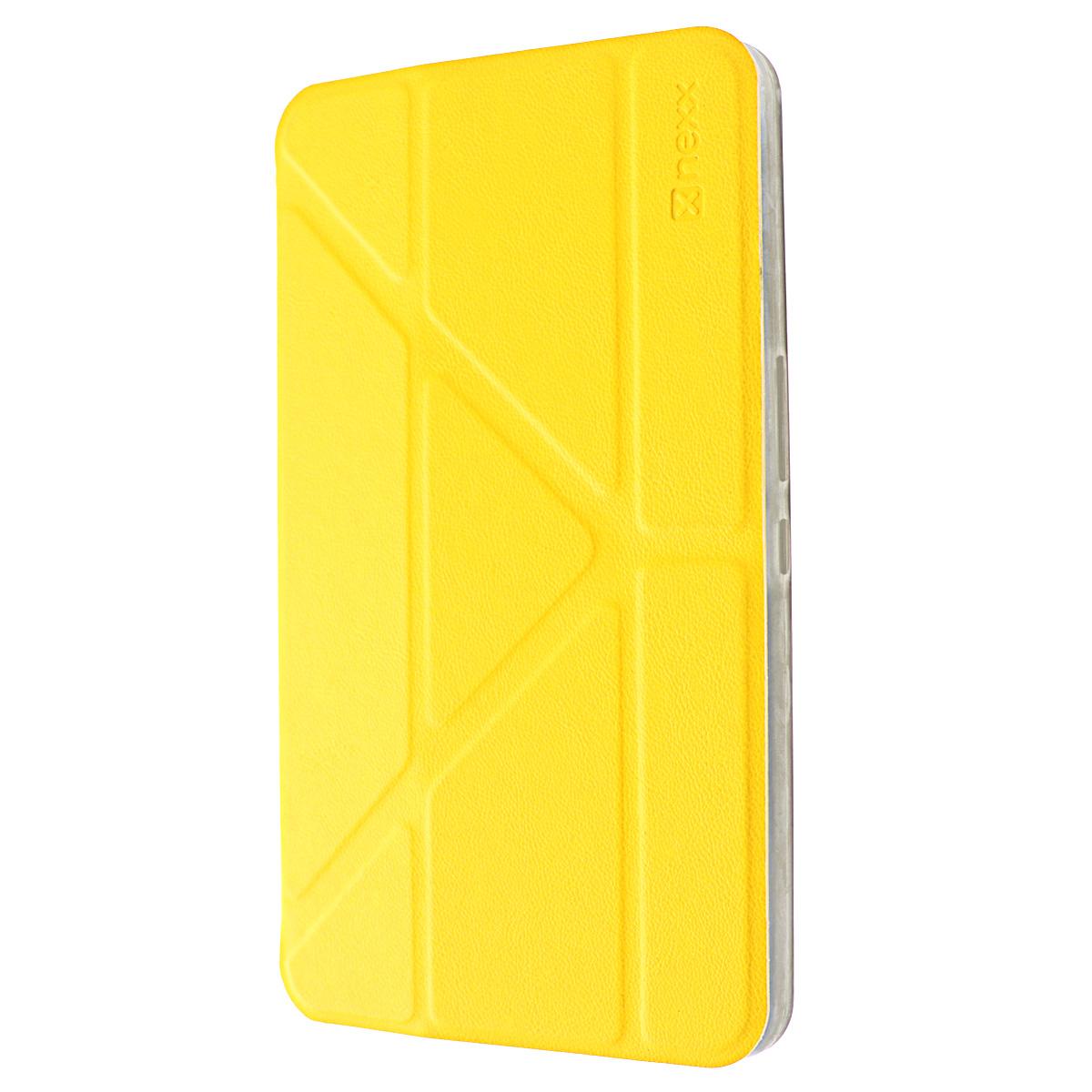 Nexx Smartt чехол для Samsung Galaxy Tab 4 10, YellowNX-TPC-ST-209-YLЗащитный чехол Nexx Smartt для Samsung Galaxy Tab 4 10. Коллекция чехлов Smartt сочетает в себе функциональность и надежность. Особенностью чехла является его способность принимать форму вашего планшета и сливаться с ним воедино, практически не увеличивая вес и габариты. Конструкция крышки чехла со встроенными магнитами позволяет разместить смартфон в удобном положении.