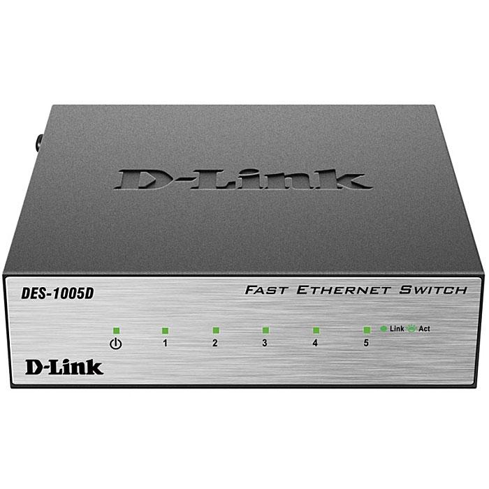 D-Link DES-1005D/O2B коммутаторDES-1005D/O2B5-портовый (DES-1005D) и 8-портовый (DES-1008D) коммутаторы D-Link с поддержкой функции plug-and-play являются экономически выгодным решением для сетей SOHO, а также для небольшого бизнеса. Коммутатор оснащен 5/8 портами 10/100 Мбит/с, которые позволяют легко расширить сеть или обновить существующую. Быстрая и надежная организация сети Благодаря высокой скорости передачи данных (до 200 Мбит/с) в режиме полного дуплекса, коммутаторы D-Link DES-1005D/1008D является идеальным решением для быстрой передачи файлов, игр в режиме онлайн и потоковой передачи данных без задержек. Ethernet-порты находятся на передней панели коммутатора, что облегчает доступ к ним, а индикаторы двух цветов для каждого порта помогают легко определить состояние соединения. Кроме того, коммутатор оснащен слотом для кенсингтонского замка на задней панели, который позволяет надежно прикрепить устройство к полке или столу. Экономия электроэнергии Коммутаторы DES-1005D и DES-1008D...