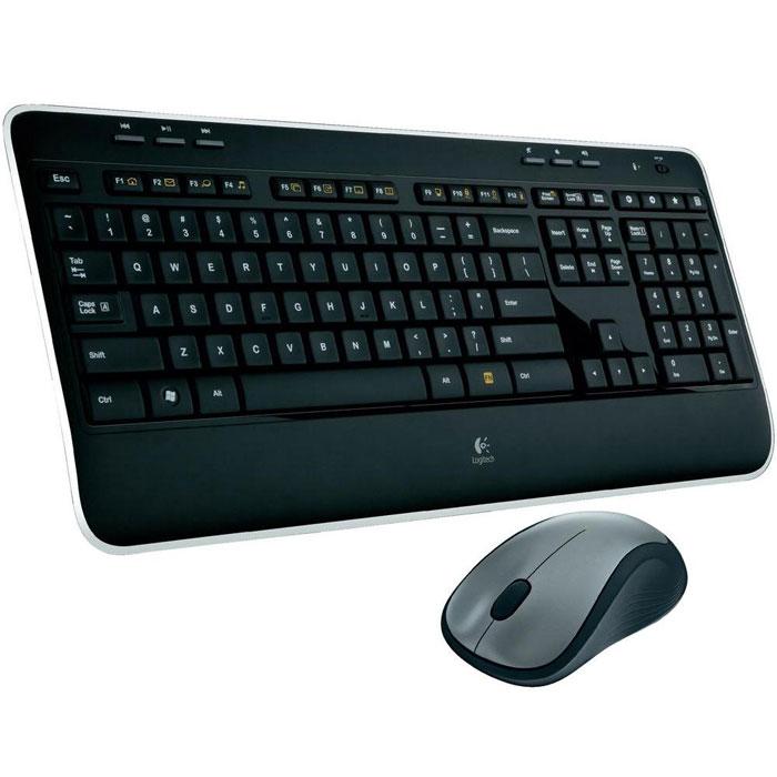 Logitech Wireless Combo MK520 клавиатура + мышь (920-002600)920-002600Беспроводная клавиатура с мышкой Logitech Wireless Combo MK520. Благодаря полноразмерной клавиатуре со скругленными клавишами, эргономичной лазерной мыши с плавными контурами, а также долговечным батарейкам этот стильный набор подарит Вам удобство и комфорт в управлении. Полноразмерная раскладка: Удобство и простор: все клавиши находятся именно там, где Вы ожидаете их найти. Эргономичная лазерная мышь: Плавные контуры боковых поверхностей мыши и мягкие прорезиненные вставки позволяют управлять мышью с непревзойденной точностью и обеспечивают дополнительный комфорт. Вам понравится плавное и точное движение практически по любой поверхности. Приемник Logitech Unifying: Миниатюрный беспроводной приемник можно оставлять в ноутбуке, так что Вам не придется отключать его всякий раз, когда нужно перейти с одного места на другое. И при этом он устанавливает соединение и с клавиатурой, и с мышью. Клавиши Logitech Incurve keys: ...