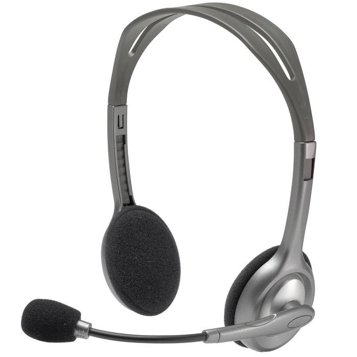 Logitech H110 Stereo Headset гарнитура (981-000271)981-000271Благодаря функции шумоподавления микрофона и стереозвучанию эта универсальная гарнитура Logitech Stereo Headset H110 поможет начать общаться с друзьями в Интернете. Микрофон с функцией шумоподавления Гибкий поворотный держатель Регулируемое оголовье Насыщенный стереозвук Универсальная конструкция