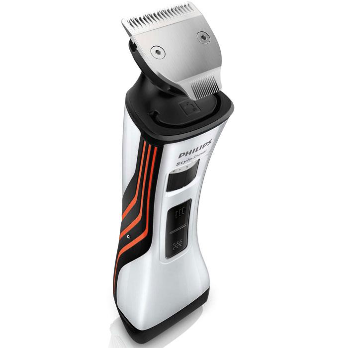 Philips QS6141/32 стайлерQS6141/32Создай свой стиль с помощью Philips QS6141/32. Этот двусторонний стайлер для бороды и бритва помогут легко создать любой образ — эффект трехдневной щетины, стильную бороду или просто чистое бритье. Триммер с полностью металлическим корпусом (32 мм) и гребень с 12 регулируемыми настройками позволят с легкостью выбрать нужную длину бороды при помощи колесика. Надежный и безопасный металлический триммер с закругленными краями обеспечивает точный и ровный стайлинг. Новая бритва с двойной сеткой позволяет с легкостью создавать свой неповторимый стиль. Средний триммер сбривает более длинные и жесткие волоски, а две плавающие сетки обеспечивают идеально гладкое бритье. Под регулируемым гребнем расположен двусторонний триммер с полностью металлическим корпусом. Выберите сторону 32 мм для быстрого стайлинга или сторону 15 мм для точного подравнивания на труднодоступных участках. Закругленные края обеспечивают мягкий контакт с кожей. Режущие блоки малого размера...