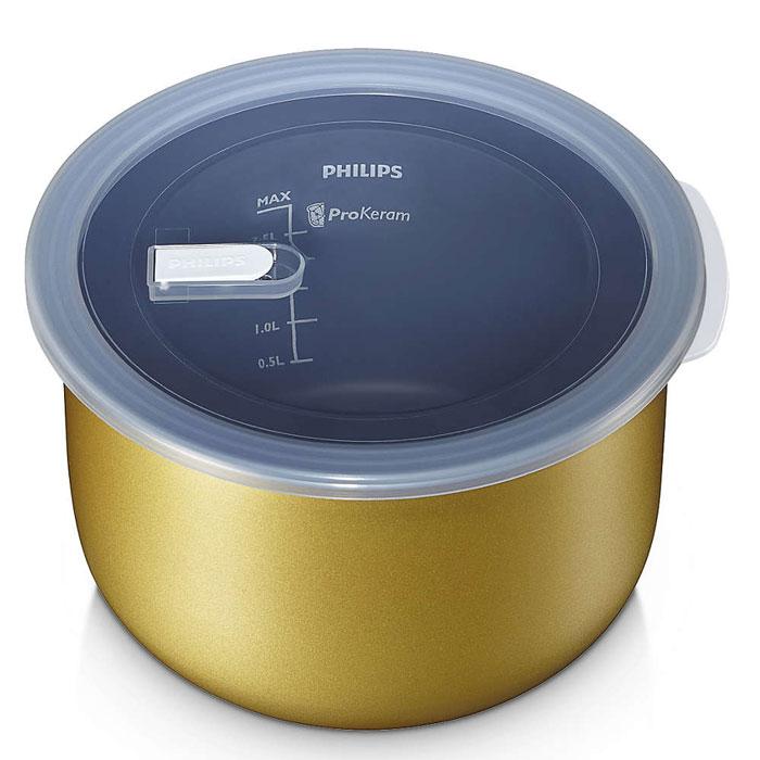 Philips HD3745/03 чаша для мультиварки, 4 лHD3745/03Чаша Philips HD3745/03 универсальна в использовании и имеет надежное керамическое покрытие ProKeram для приготовления вкусных и полезных блюд каждый день. Толщина стенок: 2 мм