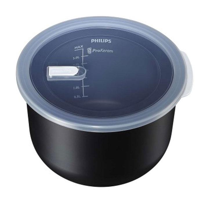 Philips HD3757/03 чаша для мультиварки, 5 лHD3757/03Чаша Philips HD3757/03 для мультиварок с нано-керамическим покрытием ProKeram и рифленой поверхностью дна идеальна для приготовления и любимых жареных блюд с румяными полосками. Толщина стенок: 2 мм