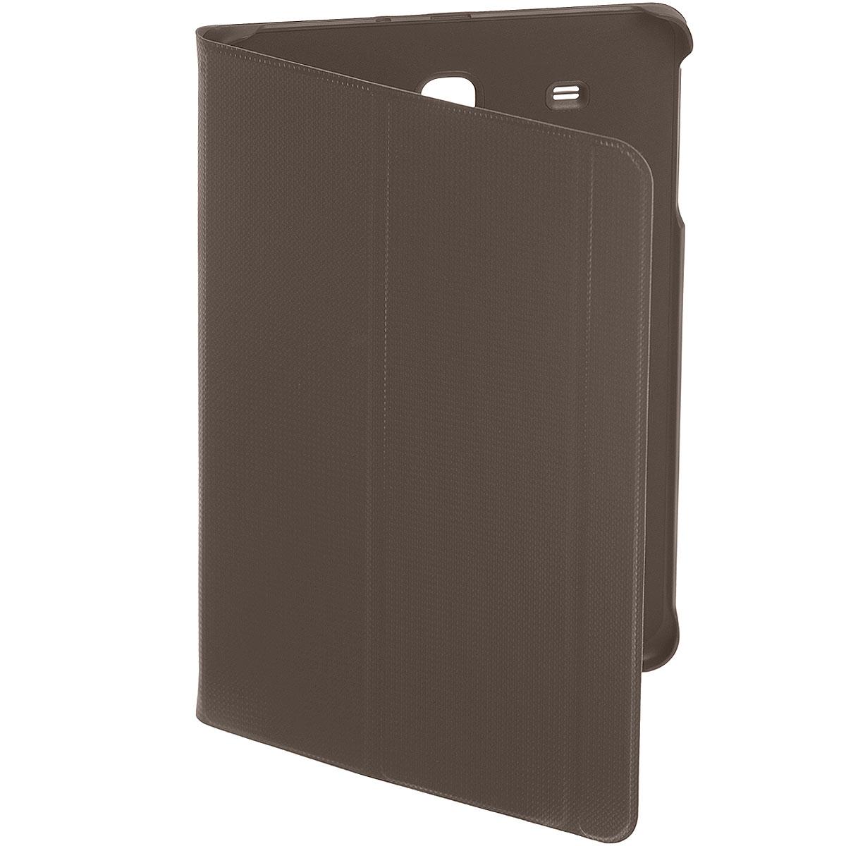 Samsung EF-BT560B BookCover чехол для Galaxy Tab E, BrownEF-BT560BAEGRUЧехол Samsung EF-BT560B BookCover для Galaxy Tab E создан для защиты корпуса и экрана смартфона от внешних воздействий и продления срока его эксплуатации. Для удобства чехол имеет 2 трансформации (подставка и набор текста) и автоматическое включение/выключение экрана при открытии/закрытии чехла.