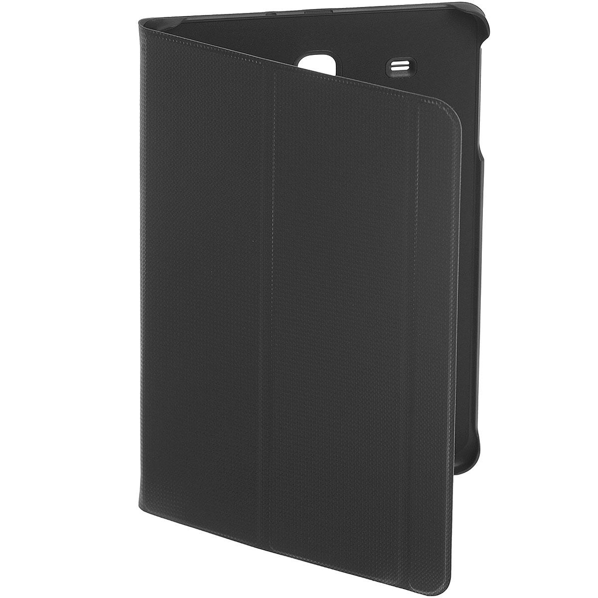 Samsung EF-BT560B BookCover чехол для Galaxy Tab E, BlackEF-BT560BBEGRUЧехол Samsung EF-BT560B BookCover для Galaxy Tab E создан для защиты корпуса и экрана смартфона от внешних воздействий и продления срока его эксплуатации. Для удобства чехол имеет 2 трансформации (подставка и набор текста) и автоматическое включение/выключение экрана при открытии/закрытии чехла.