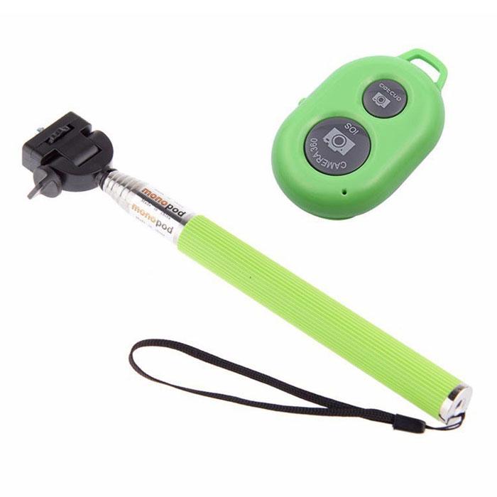 Unlim UN-0831A, Green монопод для селфиUN-0831A-GRNUnlim UN-0831A - компактный и легкий монопод для селфи в прочном металлическом корпусе. Совместим с устройствами на платформе iOS и Android. Не требует установки дополнительных приложений.