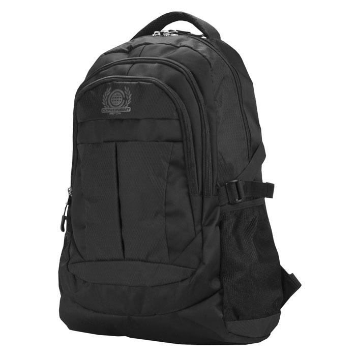 Continent BP-001, Black рюкзак для ноутбука 15,6BP-001 BKСтильный и удобный рюкзак Continent BP-001 для ноутбука 15.6 дюймов имеет прочную застежку для надежного хранения, удобные плечевые ремни и дополнительные карманы для аксессуаров.