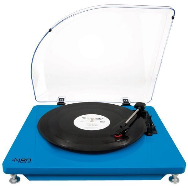 ION Audio Pure LP, Blue виниловый проигрывательPure LP,IONpurelpblНовый USB виниловый проигрыватель, подсоединив к ПК или Mac, позволяет оцифровывать ваши любимые композиции в формат mp3. Приятный, стильный дизайн. Имеет различные цветовые решения. Функциональный, интуитивно понятный в использовании. Регулируемая скорость 33/ 45 оборотов/мин. Возможность подключать внешние колонки.