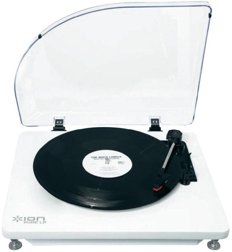 ION Audio Pure LP, White виниловый проигрывательPURE LP WHITEВиниловый проигрыватель ION Audio Pure LP имеет приятный, стильный дизайн, а также оснащен USB-портом. Подсоединив устройство к ПК или Mac, вы можете оцифровывать ваши любимые композиции в формат MP3. Специальная программа по конвертации EZ Vinyl/Tape Converter идет в комплекте. Программа автоматически формирует отдельные треки. Благодаря аудио выходам RCA музыку с Pure LP можно слушать на внешних стерео колонках. Защитная крышка сохранит ваш проигрыватель и иглу в чистоте.