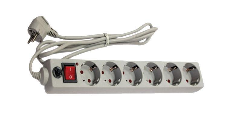 Сетевой фильтр с заземлением UNIVersal, ПВС (3*0,75), цвет: серый, 5 м83295Используется в жилых и офисных помещениях для защиты компьютеров и другой электронной аппаратуры от высокочастотных помех и импульсных перенапряжений в электрических сетях переменного тока до 250В вызванных: грозовыми разрядами, работой электротранспорта, авариями на подстанциях, работой промышленного оборудования.
