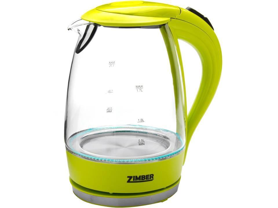 Zimber ZM-10821 электрический чайникZM-10821Электрический чайник Zimber ZM-10821 является прекрасным решением для тех, кто любит устраивать себе перерывы в работе на чашечку чая или кофе. Он прост в управлении и долговечен в использовании. Чайник автоматически выключается при закипании.