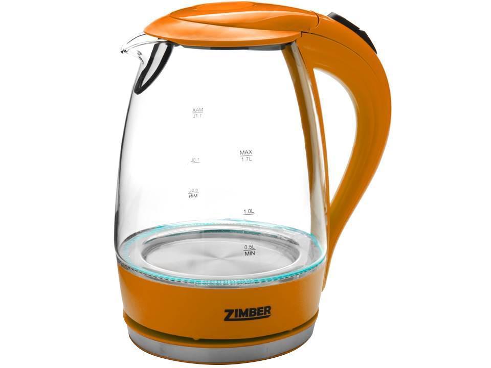 Zimber ZM-10822 электрический чайникZM-10822Электрический чайник Zimber ZM-10822 является прекрасным решением для тех, кто любит устраивать себе перерывы в работе на чашечку чая или кофе. Он прост в управлении и долговечен в использовании. Чайник автоматически выключается при закипании.