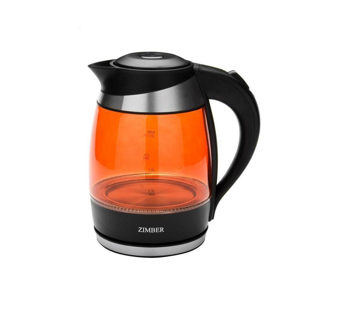 Zimber ZM-10978 электрический чайникZM-10978Zimber ZM-10978 - это удобный электрический чайник, который пригодится на любой кухне. Корпус модель выполнен из пластика и стекла, что придает ей стильный внешний вид. Чайник автоматически выключается при закипании.
