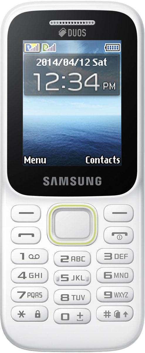 """Samsung B310E, WhiteSM-B310EZWASERПоддержка двух SIM-карт Поддержка двух SIM-карт телефоном Samsung B310E дает возможность одновременно использовать два отдельных телефонных номера. Вы по достоинству оцените гибкость и улучшенные возможности коммуникации; кроме того, вы сможете разделить свои рабочие контакты от личных. Тонкий, эргономичный дизайн Привлекающая взгляд зеленая линия на эргономичном корпусе мобильного телефона Samsung B310E визуально разделяет фронтальную часть от тыльной. Корпус толщиной 13,1 мм позволяет вам надежно и комфортно удерживать телефон в руке. Больше экран, удобнее просмотр Яркий 2,0"""" TFT QVGA ЖК экран телефона Samsung B310E позволяет легко читать текстовые сообщения и просматривать мультимедийный контент. 3,5-мм разъем для наушников Слушайте ваши любимые музыкальные треки с помощью встроенного аудио плеера. Удобный 3,5-мм разъем совместим с большинством наушников. Поддержка MicroSD карт Телефон Samsung B310E..."""