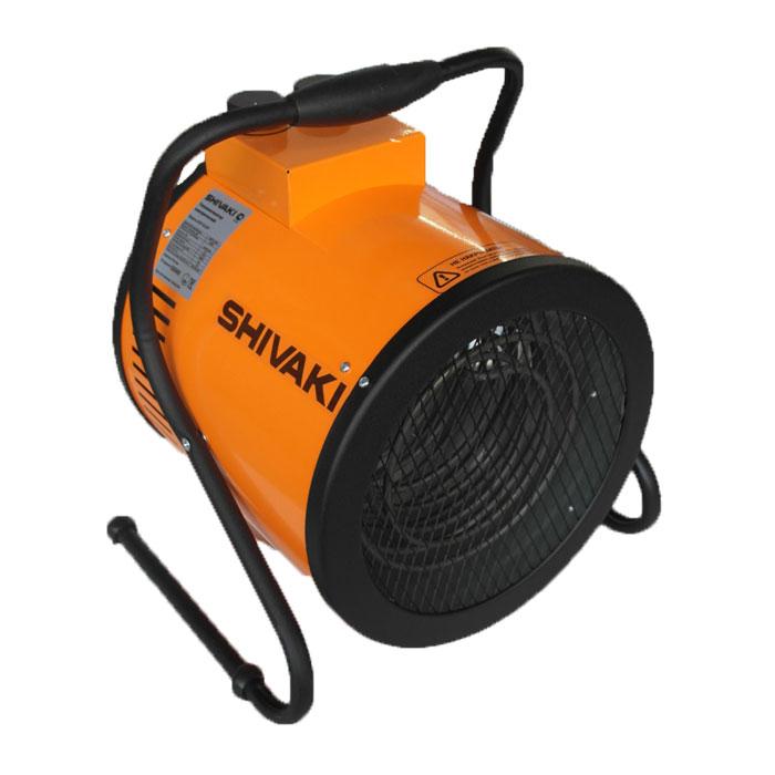 Shivaki SHIF-EL60Y тепловая пушкаSHIF-EL60YЭлектрический тепловентилятор SHIVAKI SHIF-EL60Y предназначен для вентиляции и обогрева жилых и нежилых (производственных, общественных и вспомогательных) помещений. Тепловентилятор имеет три режима работы: режим вентиляции (без нагрева) и два режима обогрева. В данном приборе установлен мощный двигатель с увеличенным ресурсом работы, корпус с двойными стенками создает направленный воздушный поток с малой турбулентностью. Универсальная ручка-подставка с регулируемым углом наклона позволяет изменять направление воздушного потока. С помощью ручки регулировки температуры Вы можете поддерживать заданную температуру в помещении. Тепловентилятор имеет функцию защиты от перегрева. Идеален для сушки стен и полов. 2 режима обогрева Режим вентиляции Мощность обогрева: 4,0 / 6,0 кВт Напряжение питания: 380В / 50Гц Номинальный ток: 9,1 А Корпус с двойными стенками Класс электрозащиты: I класс Степень защиты: IP 20 Увеличение...