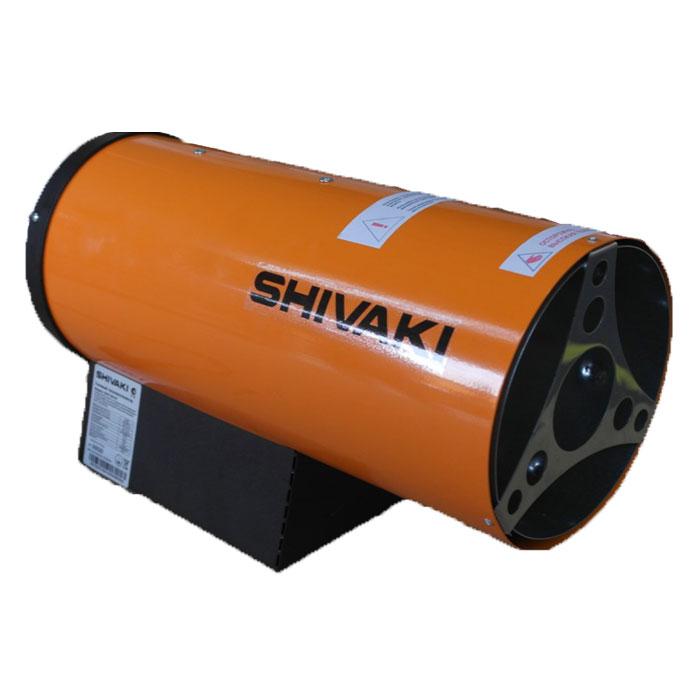 Shivaki SHIF-GS50Y тепловая газовая пушкаSHIF-GS50YТепловая газовая пушка Shivaki SHIF-GS50Y применяется на строительных объектах, для обогрева складских помещений и цехов, в производственной сфере. Прибор не требуют специального монтажа. Он предназначен для обогрева помещений в условиях умеренного климата. Газовая пушка - воздухонагреватель, работающий на газовом топливе. Топливо необходимо для получения горячей атмосферы в камере сгорания, а электроэнергия, подводимая к устройству, необходима для питания вентилятора, нагнетающего воздух и для функционирования автоматики. Газовая пушка Shivaki SHIF-GS50Y прямого нагрева является простой и надежной конструкцией без дымохода. Газовая горелка и газовый тракт разработаны совместно с техническим университетом им. М.Т. Калашникова. В тепловой пушке имеется многоступенчатая система безопасности: электроклапан, термопара, защитный термостат. Корпус газовой пушки имеет антикоррозийное покрытие, все защитные материалы изготовлены из нержавеющей стали. Легкий вес и...
