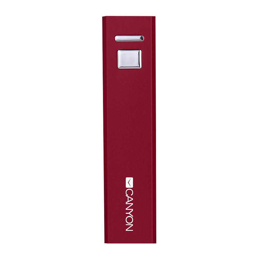 Canyon CNE-CSPB26, Red внешний аккумулятор (2600 мАч)CNE-CSPB26R